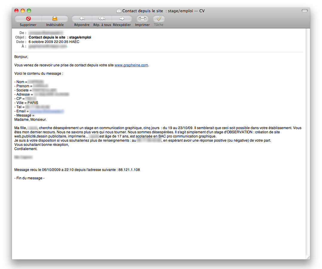 Exemple mail site de rencontre