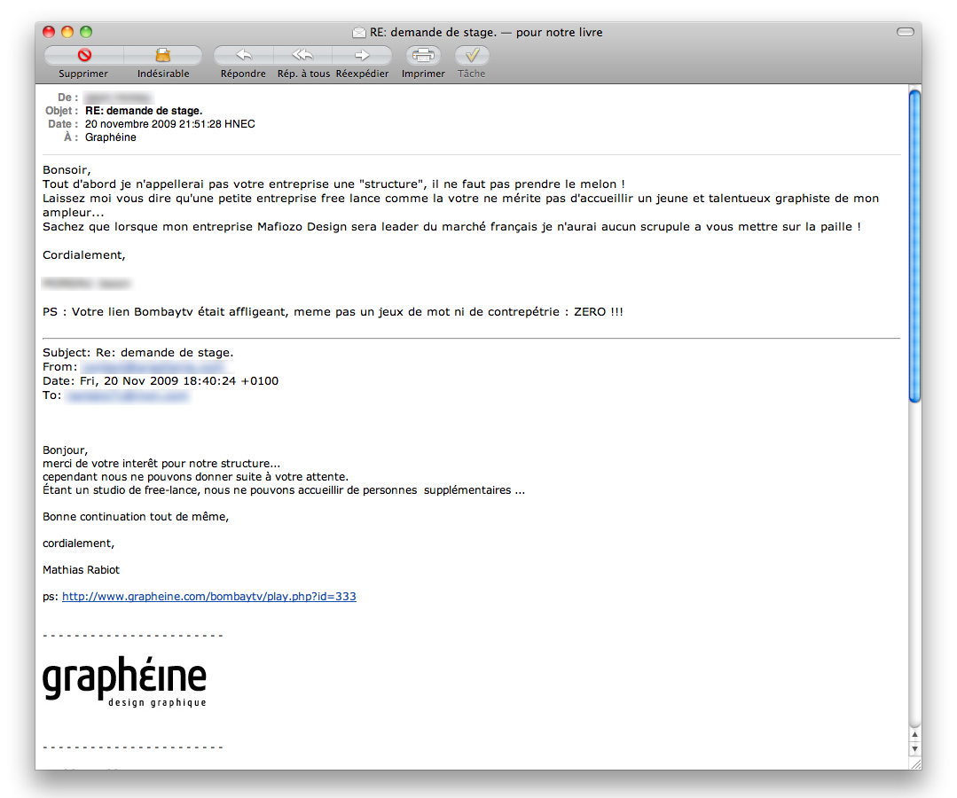 exemple de mail de candidature