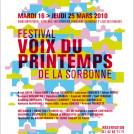 affiche festival voix musique en Sorbonne