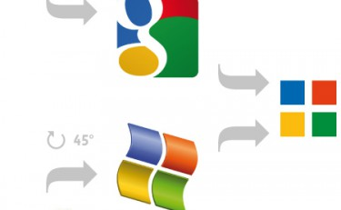 google logo vs microsoft windows logo