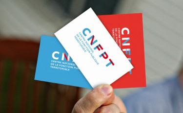 Creation de cartes de visite pour le cnfpt