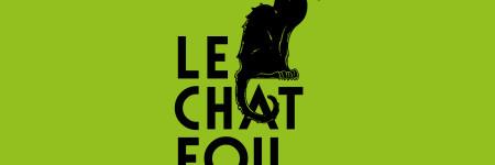 Logo du chat fou - identité visuelle d'une boutique d'absinthe à Lyon
