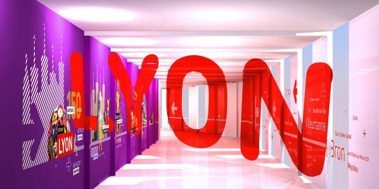 Signalétique en anamorphose pour l'aéroport de Lyon Saint-Exupéry. Comment jouer avec l'espace et le temps !