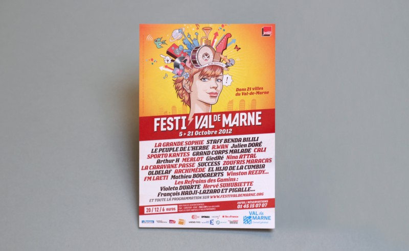affiche pour un festival de chanson