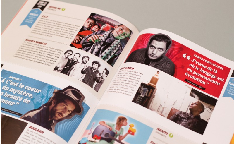 mise en page programme d'un festival musique