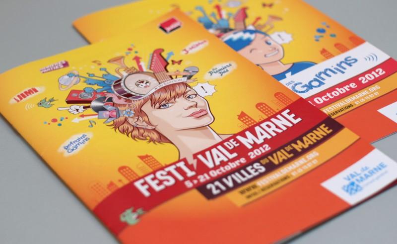 design graphique programme festival de musique