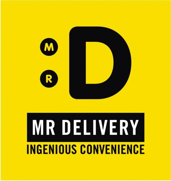 Logo pour Mr Delivery, un service de livraison à domicile de plats cuisinés en Afrique du sud