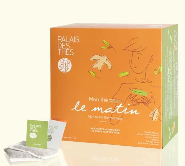 Exemple de packaging avec le nouveau logo