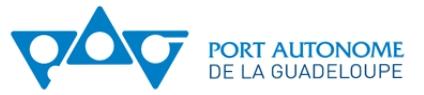 L'ancien logo du Port Autonome de Guadeloupe