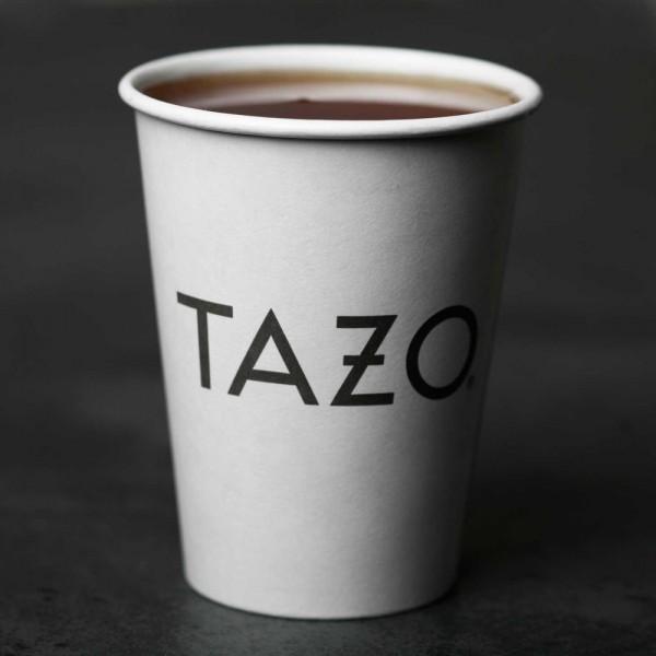 Le nouveau logo de Tazo (sur un gobelet faute d'une meilleure résolution du logo seul)
