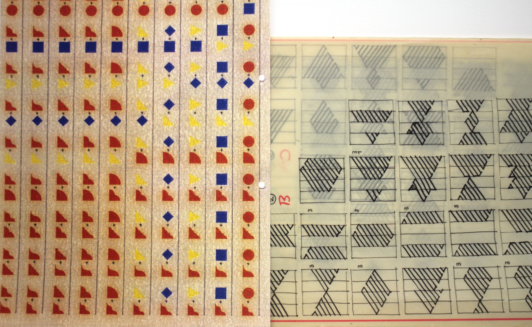 Les dessins sur calques du graphiste bâlois Rolf Rappaz