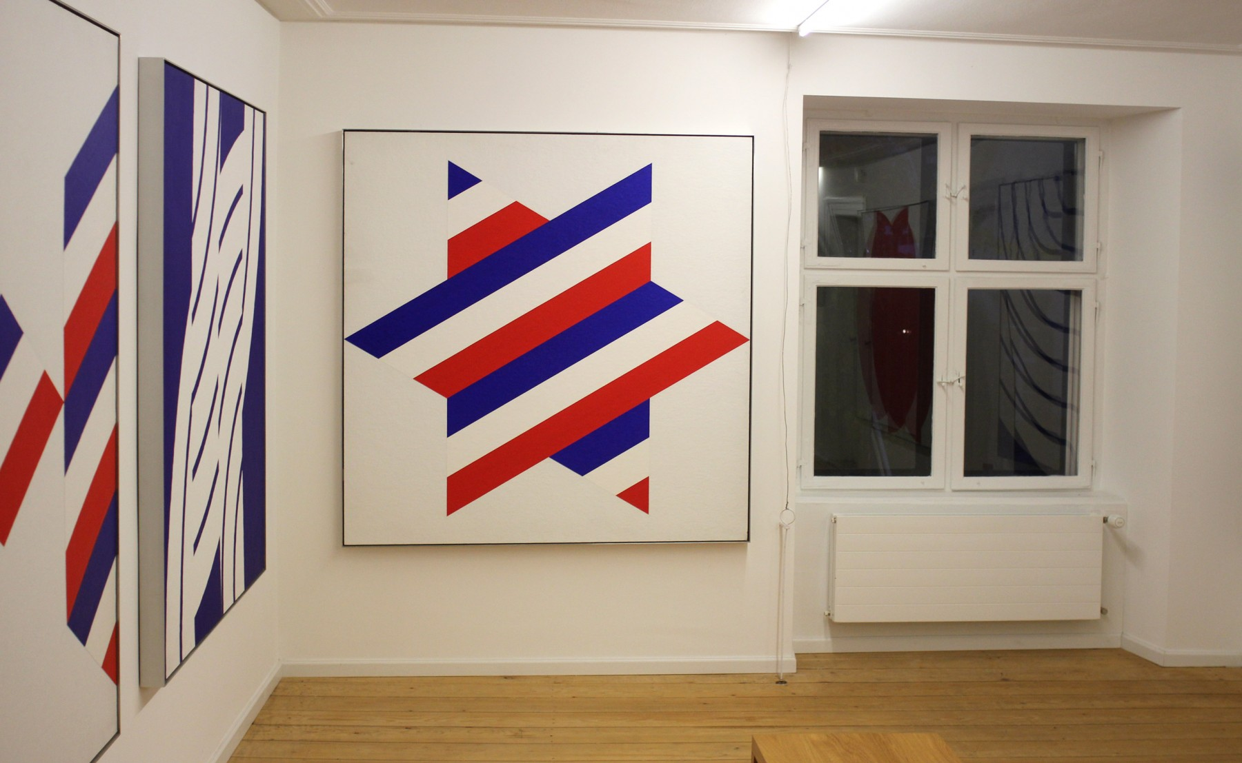 étoile colorée du graphiste suisse Rolf Rappaz