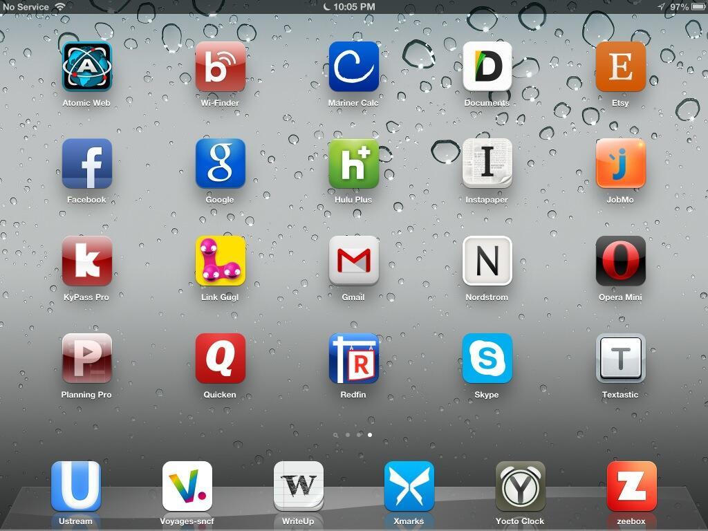 Abécédaire typographique avec des icônes d'Ipad