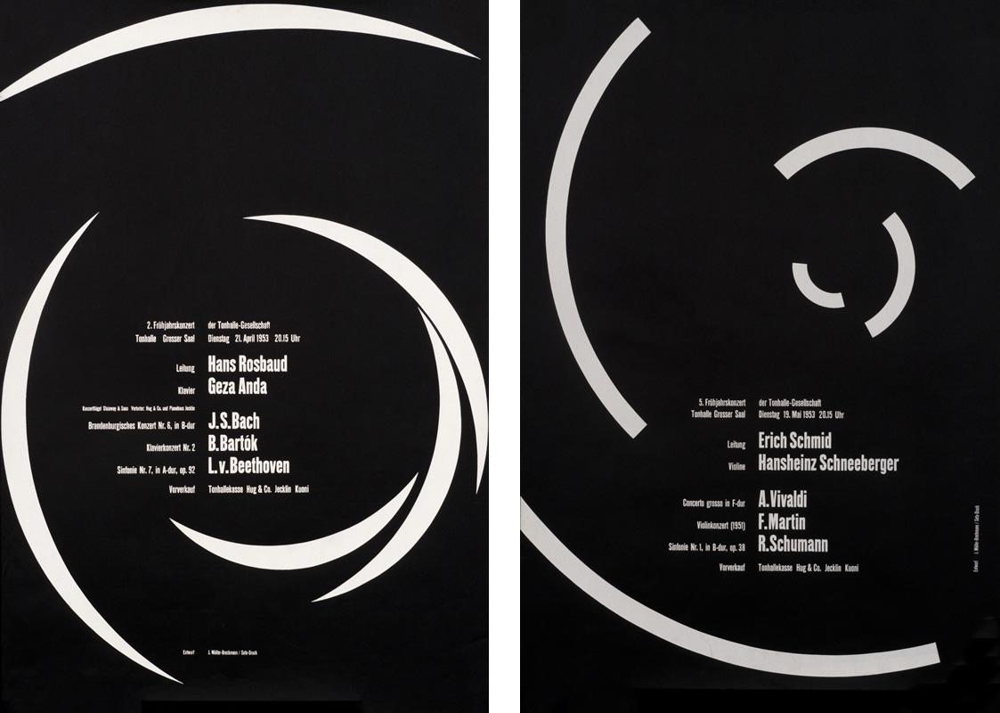 MULLER-BROCKMANN-music-black-poster
