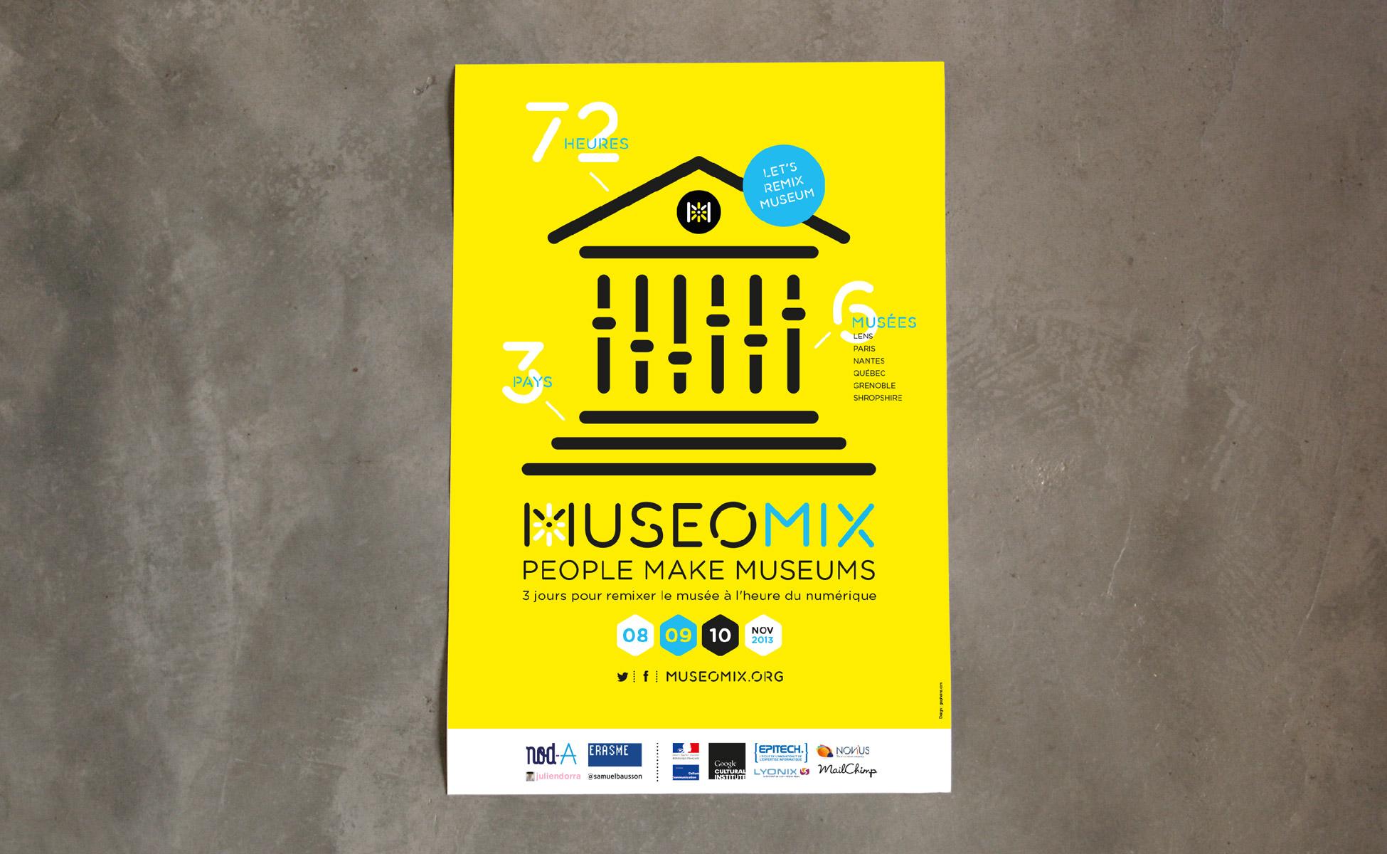 Affiche événement musée numérique museomix 2013
