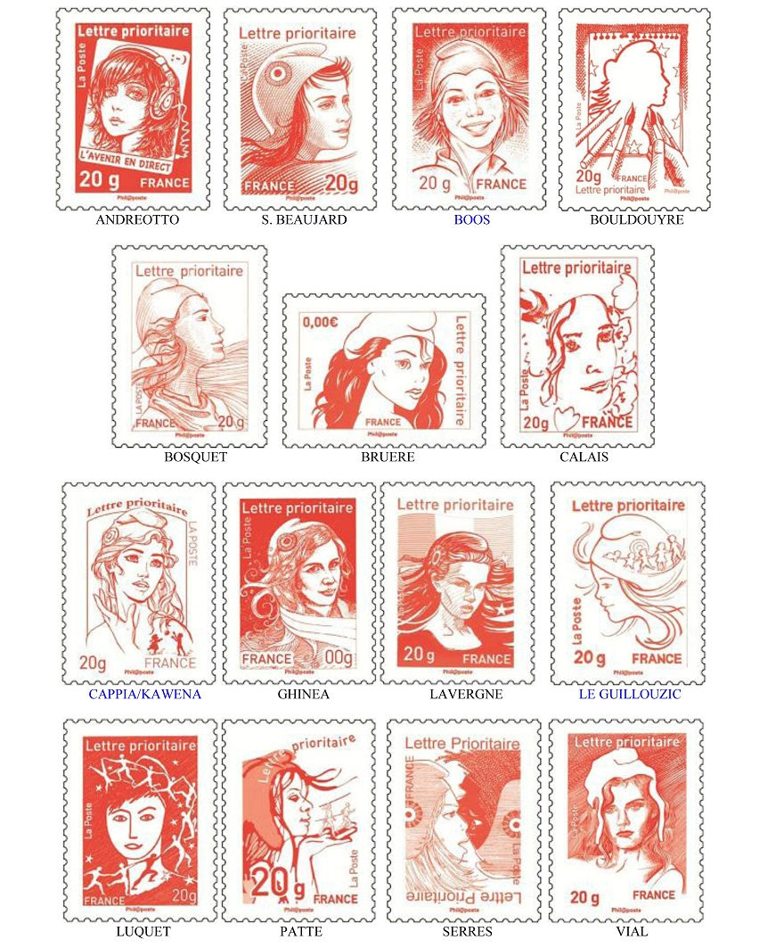 timbre marianne 2013 graph 233 ine agence de communication lyon