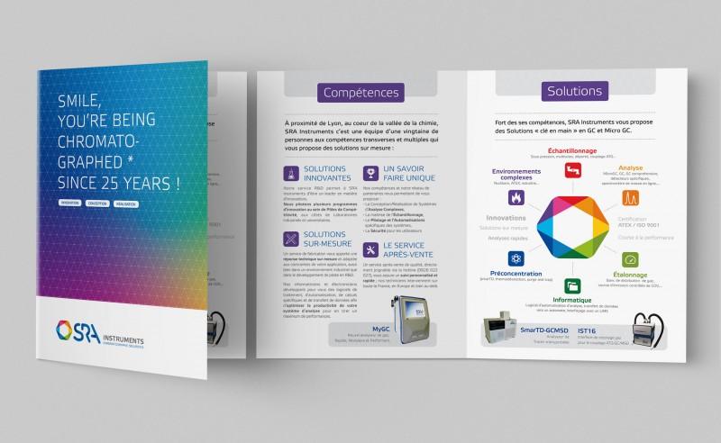 Plaquette pour une société spécialisée en chromatographie secteur de la chimie