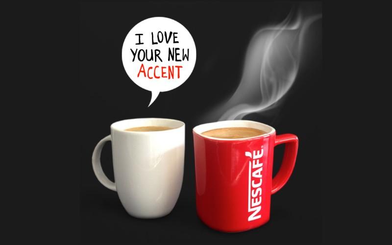 Diacritique du nouveau logo Nescafé