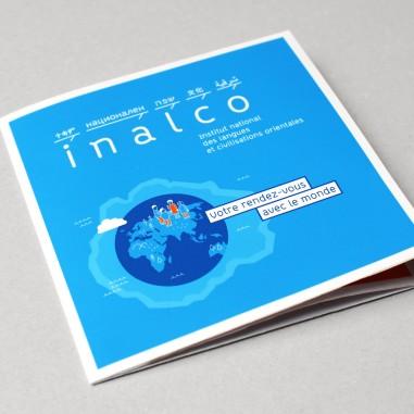 Conception d'un dépliant pour l'Institut national des langues et civilisations orientales(INALCO)