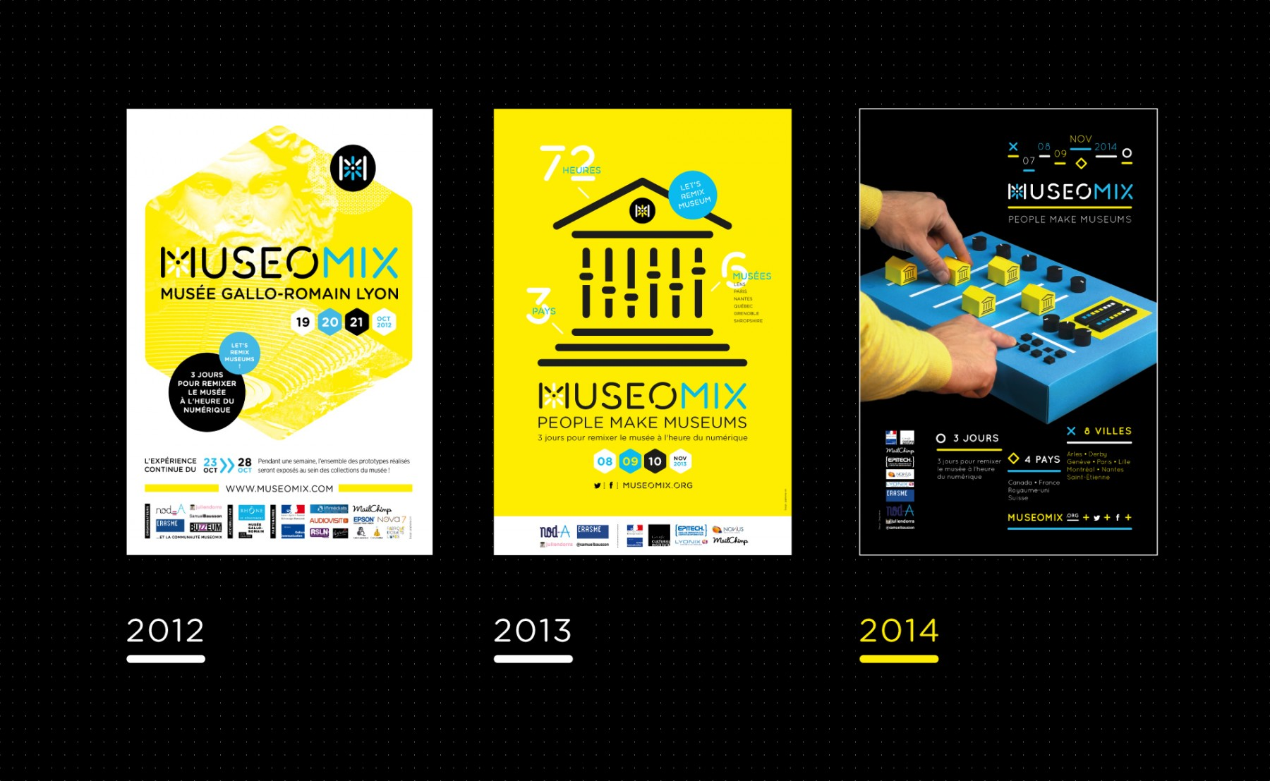 Poster design 2014 - 3 Posters Museomix