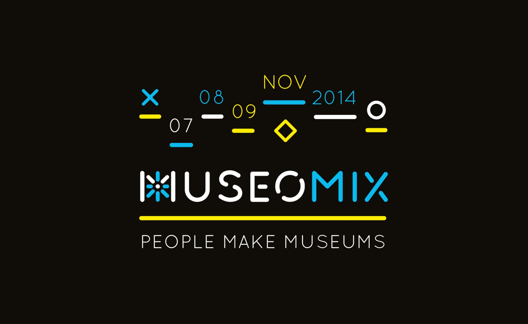 Poster design 2014 - Title Museomix 2014