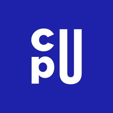 La CPU a choisi de faire de ses trois lettres le cœur de sa nouvelle identité visuelle. Le dessin et la composition de ces lettres ont pour objectif de créer un symbole impactant et adapté aux outils de communication d'aujourd'hui.