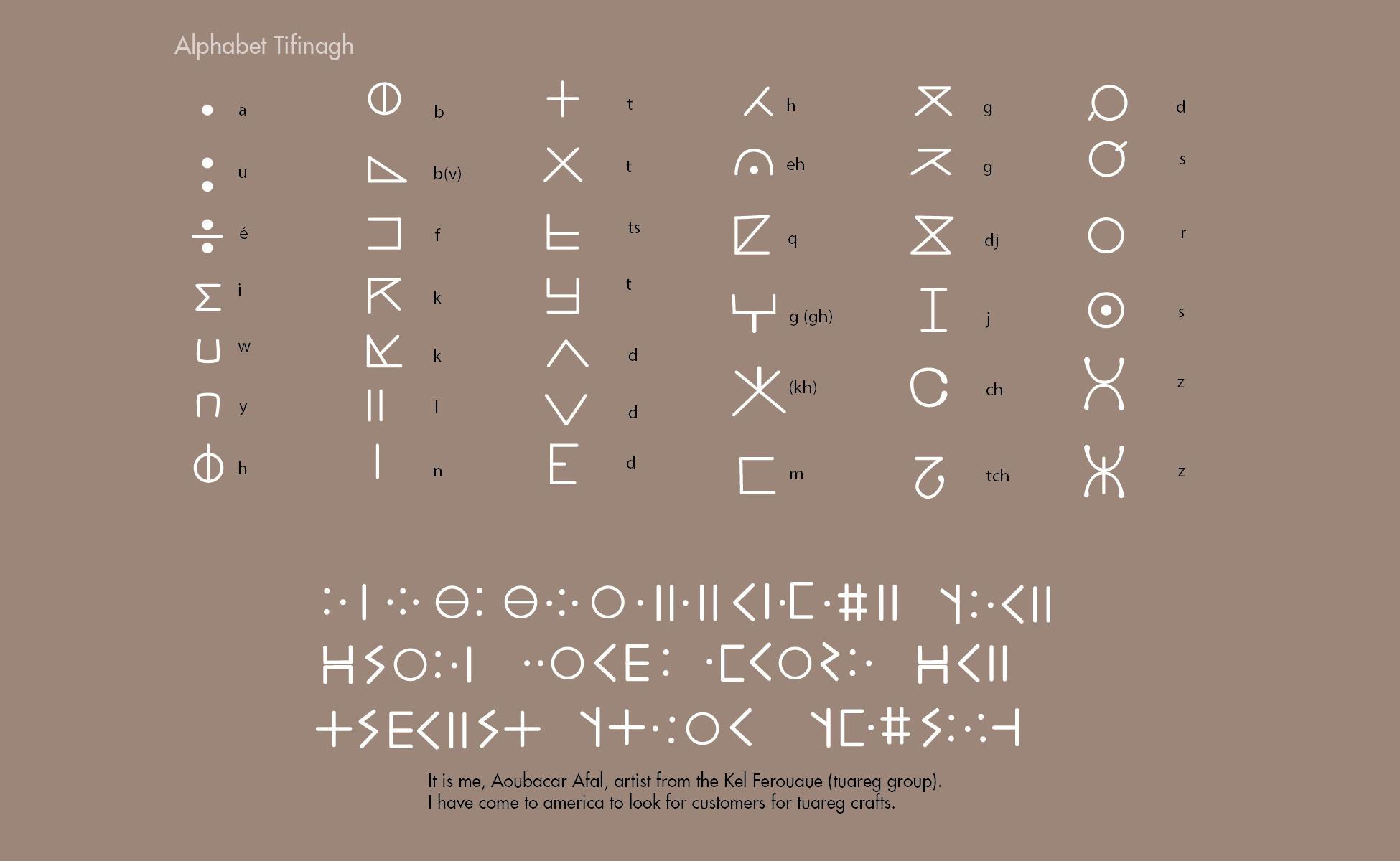 When africa meets design alphabet tifinagh biocorpaavc