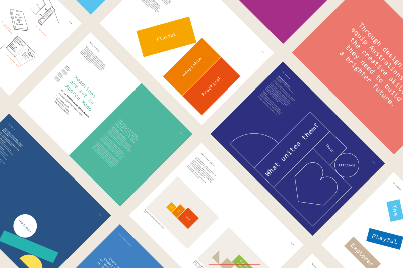 Une identité visuelle modulaire pour l'Australian Design Centre