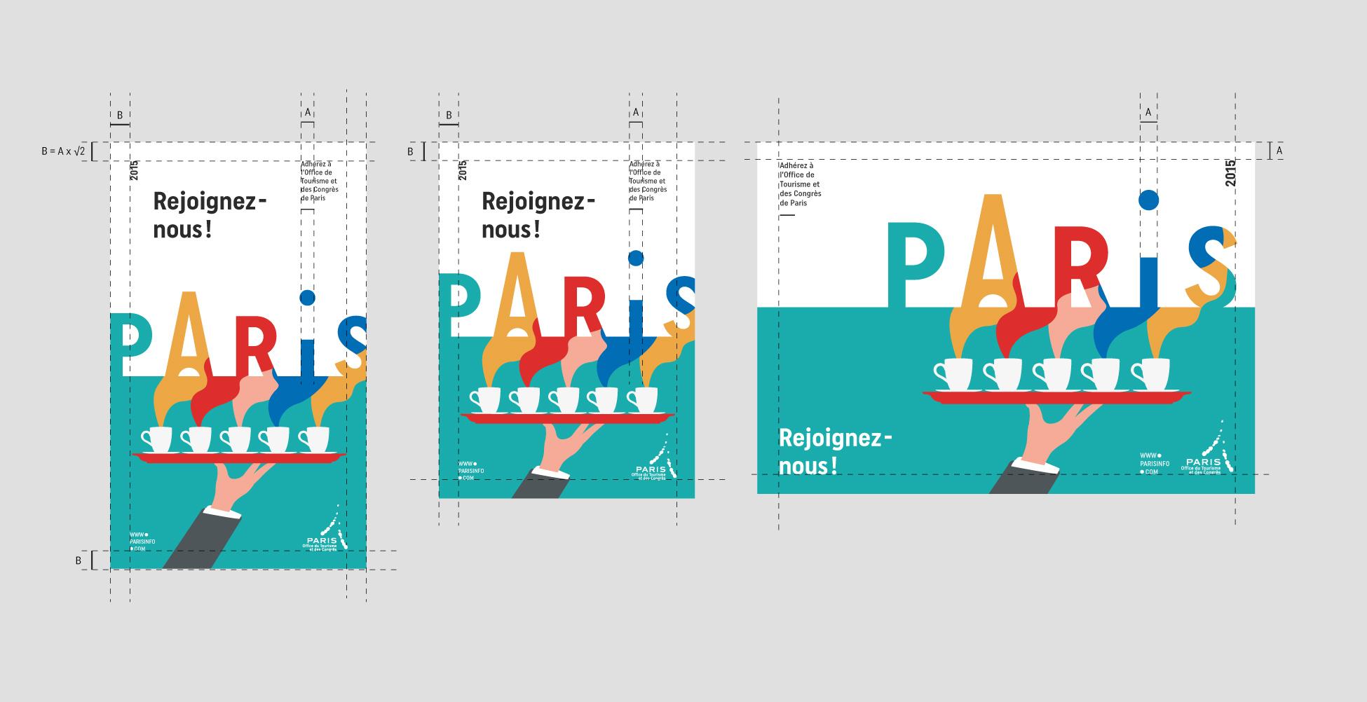 Populaire Charte graphique de l'Office de Tourisme de Paris - Graphéine  YX77