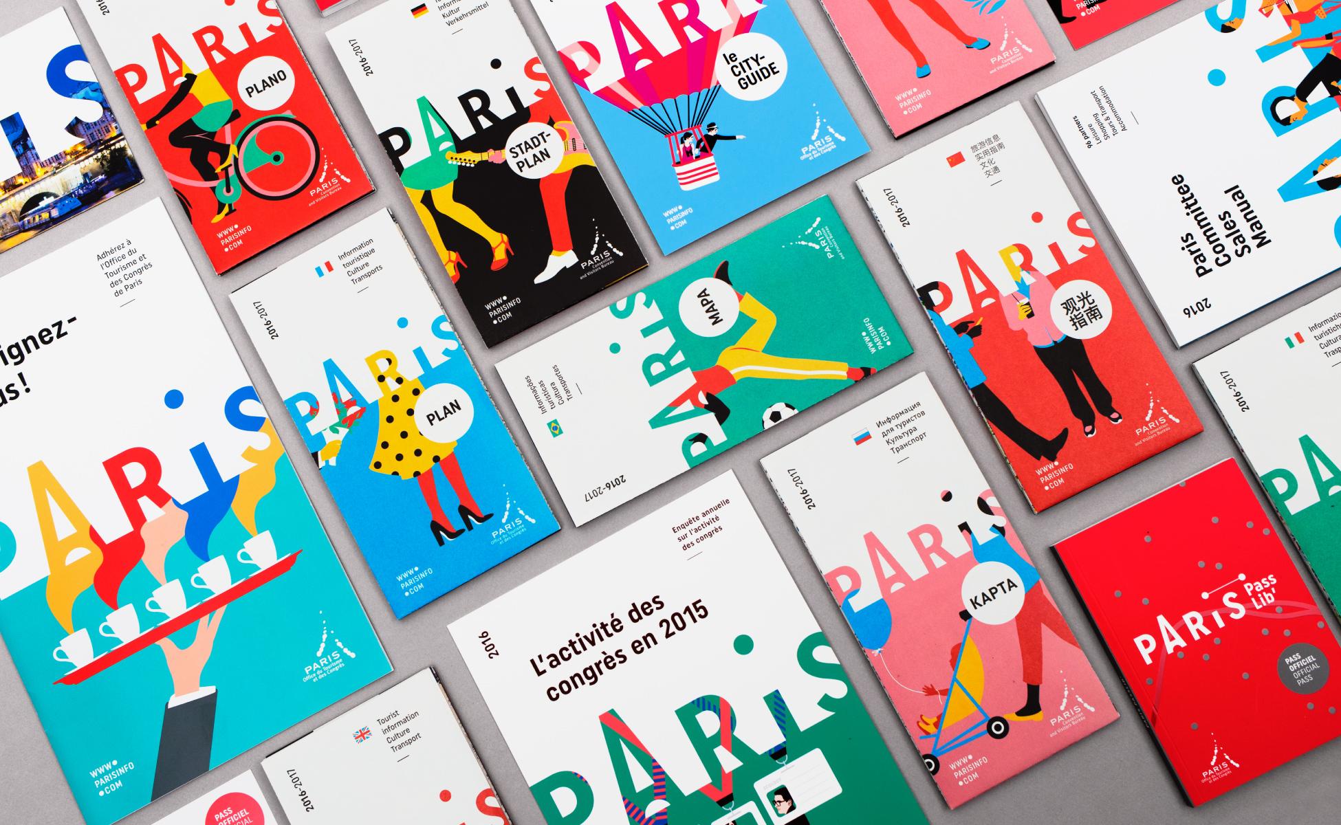 Charte graphique de l 39 office de tourisme de paris for Office design language