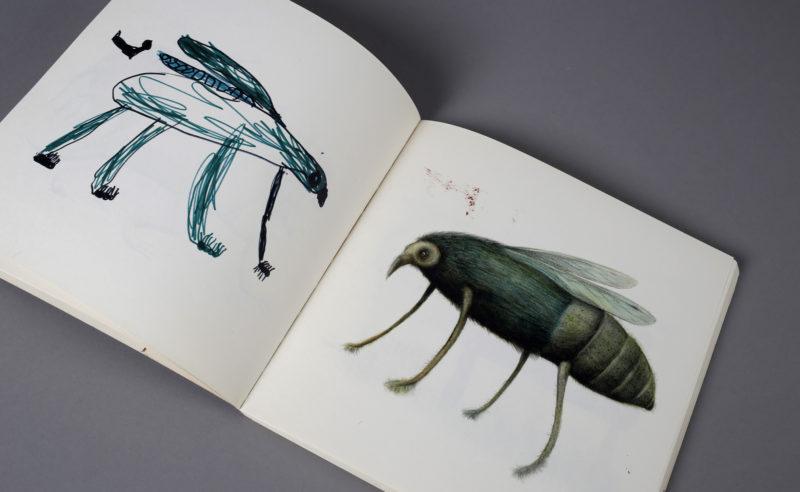 dessin enfant mouche
