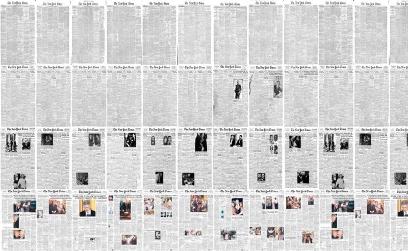 La maquette du New York Times en timelapse