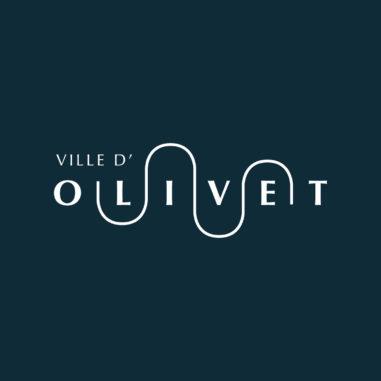 Identité de marque de la ville d'Olivet, la ville au fil de l'eau...