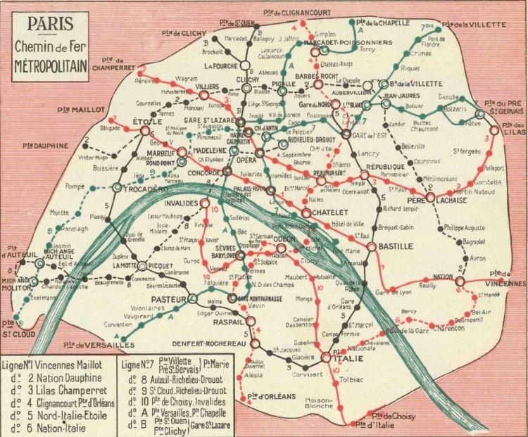 Préférence Évolution du plan de métro de Paris : du plat de spaghetti à la  FA21