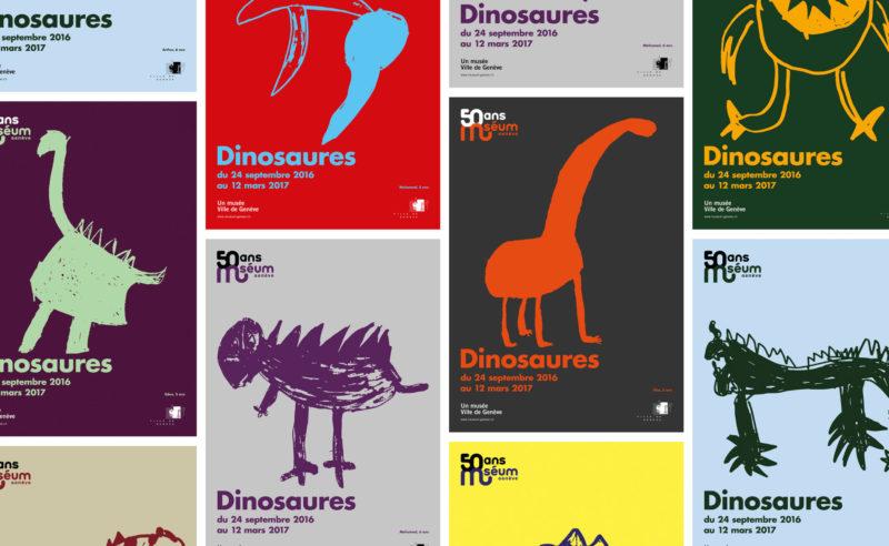 Des affiches grrrr pour les 50 ans du muséum de Genève