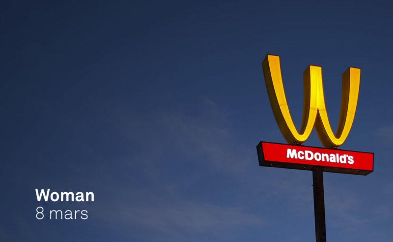 McDonalds retourne son logo pour les femmes…