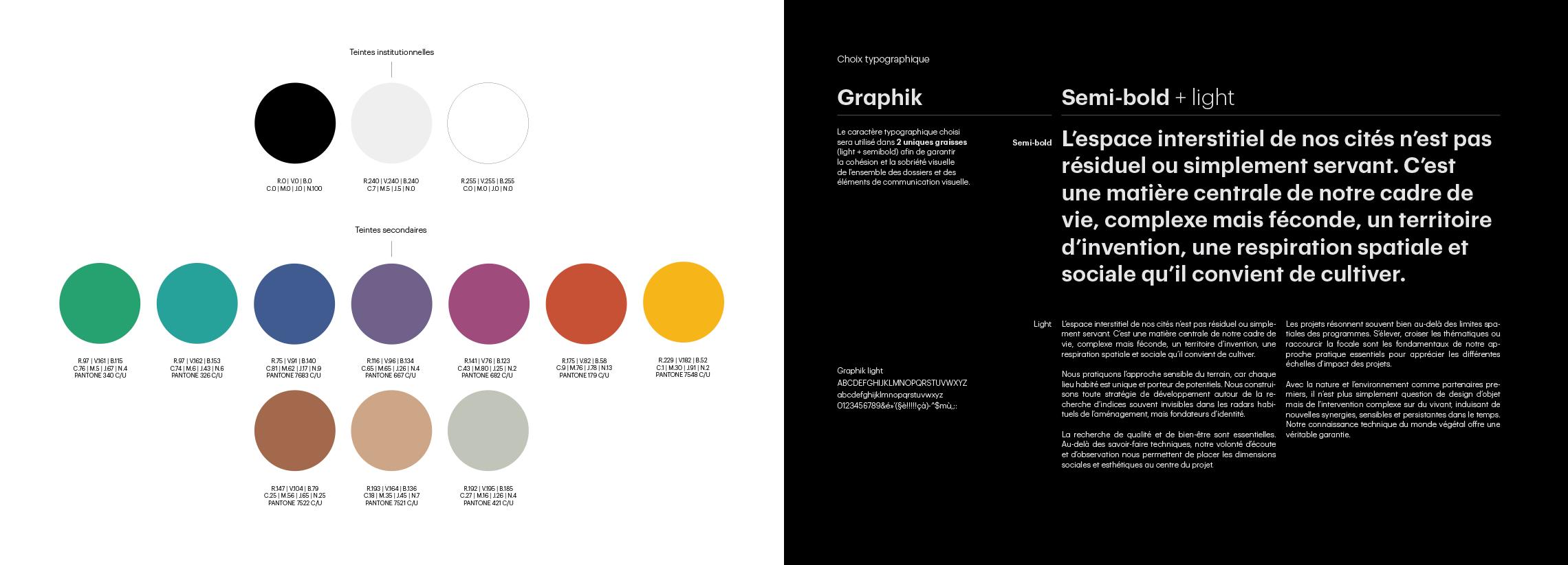 Ilex charte couleur & typographie